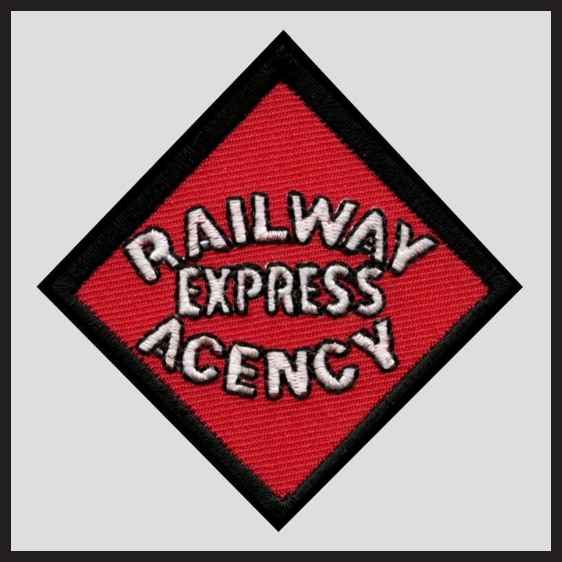 Railway Express Agency - Black Text Herald